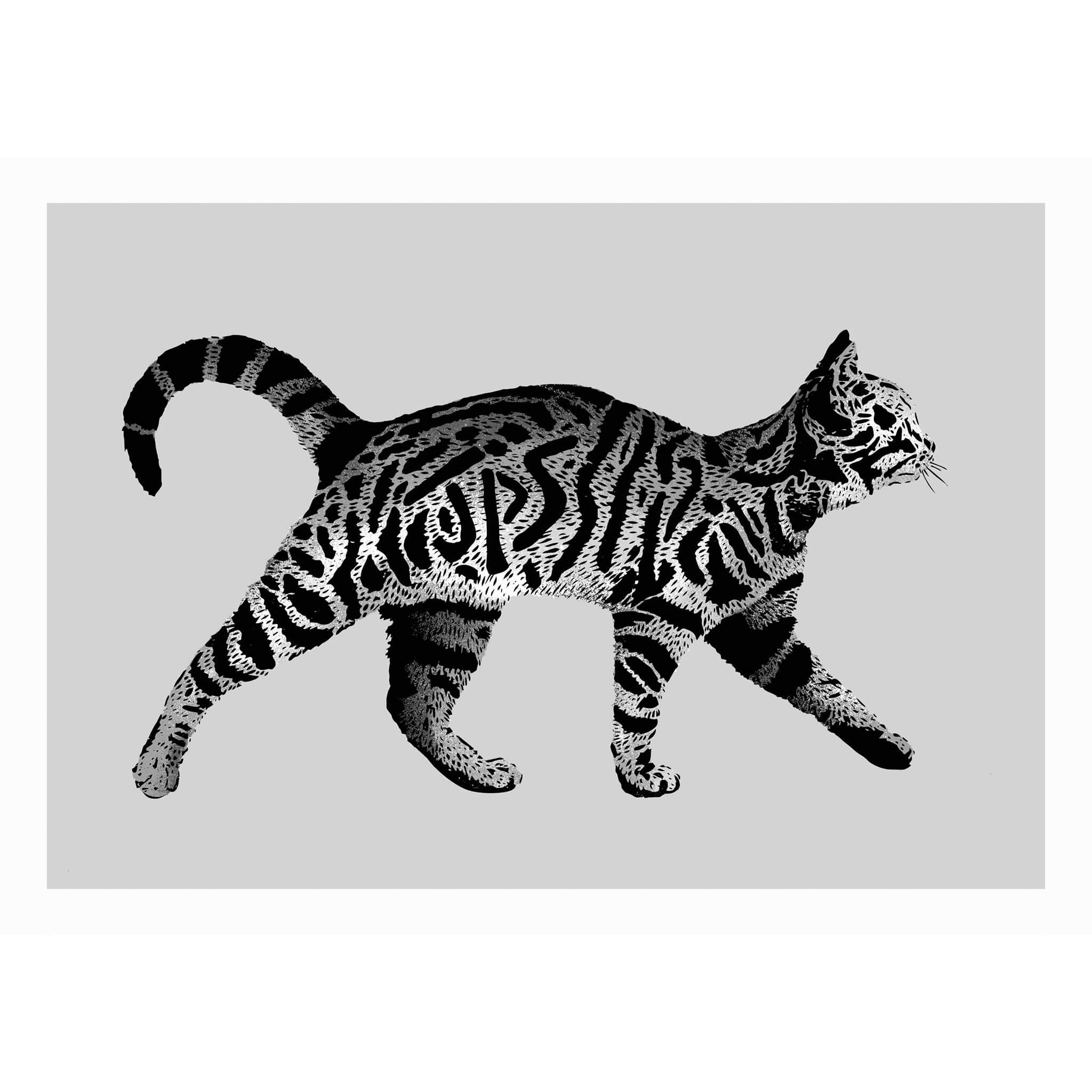 jps tag cat print silver edition graffitistreet