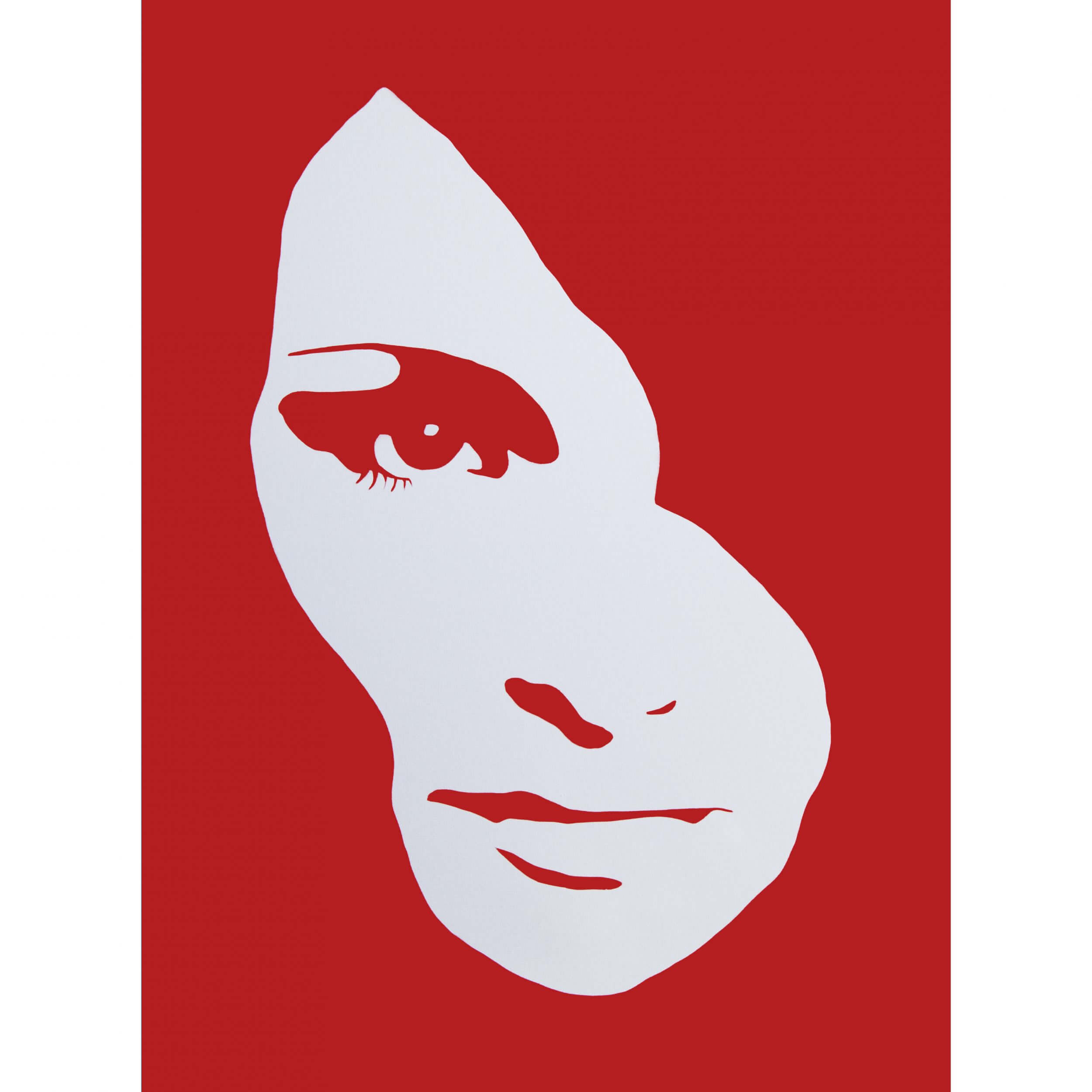 3F - Audrey Hepburn Large Canvas (Red) AP