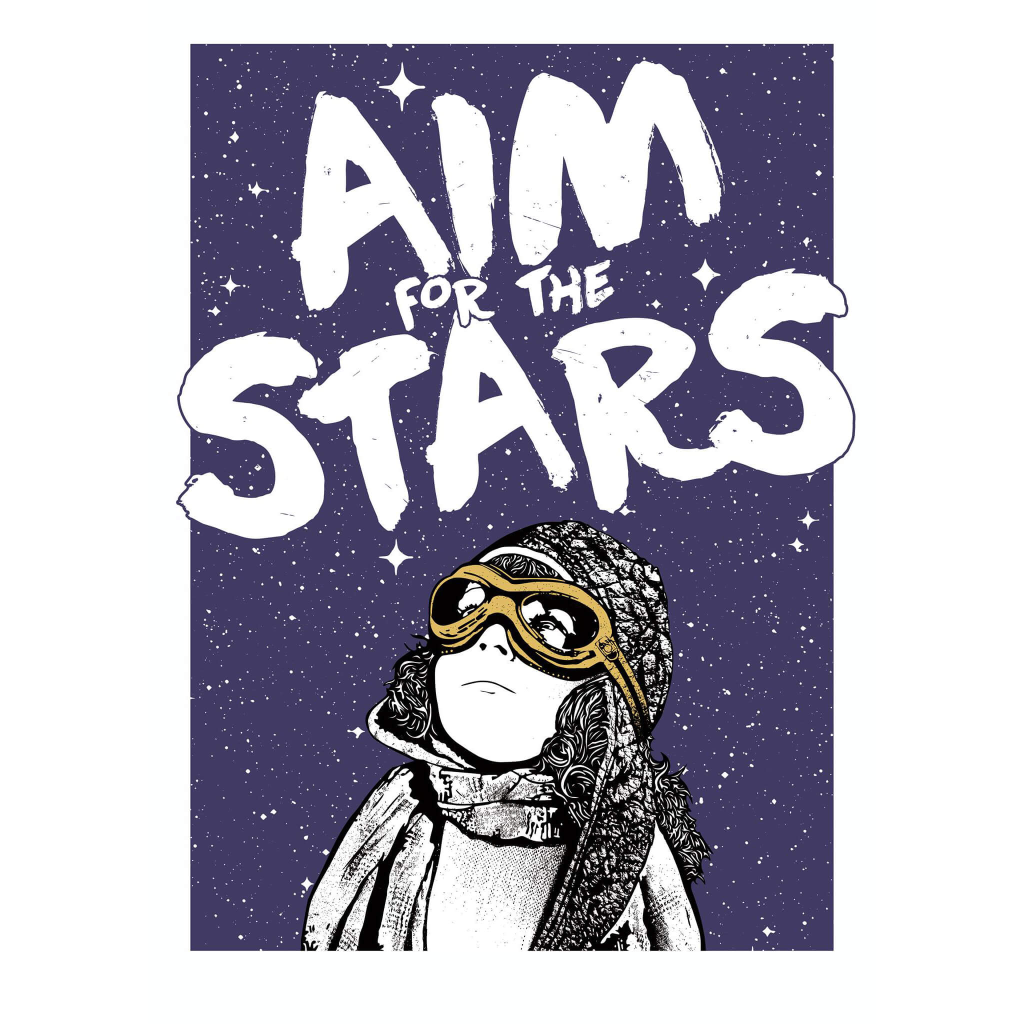 NME - Aim for the Stars Print (Gold edition)