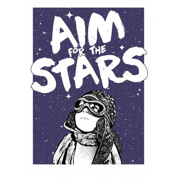 NME - Aim for the Stars Print (Silver edition)