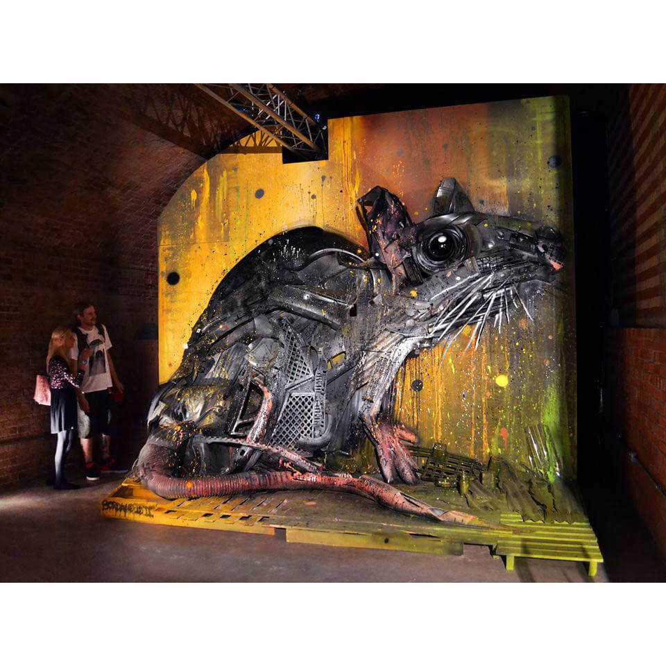 Bordalo II - Rat Big Trash Animal