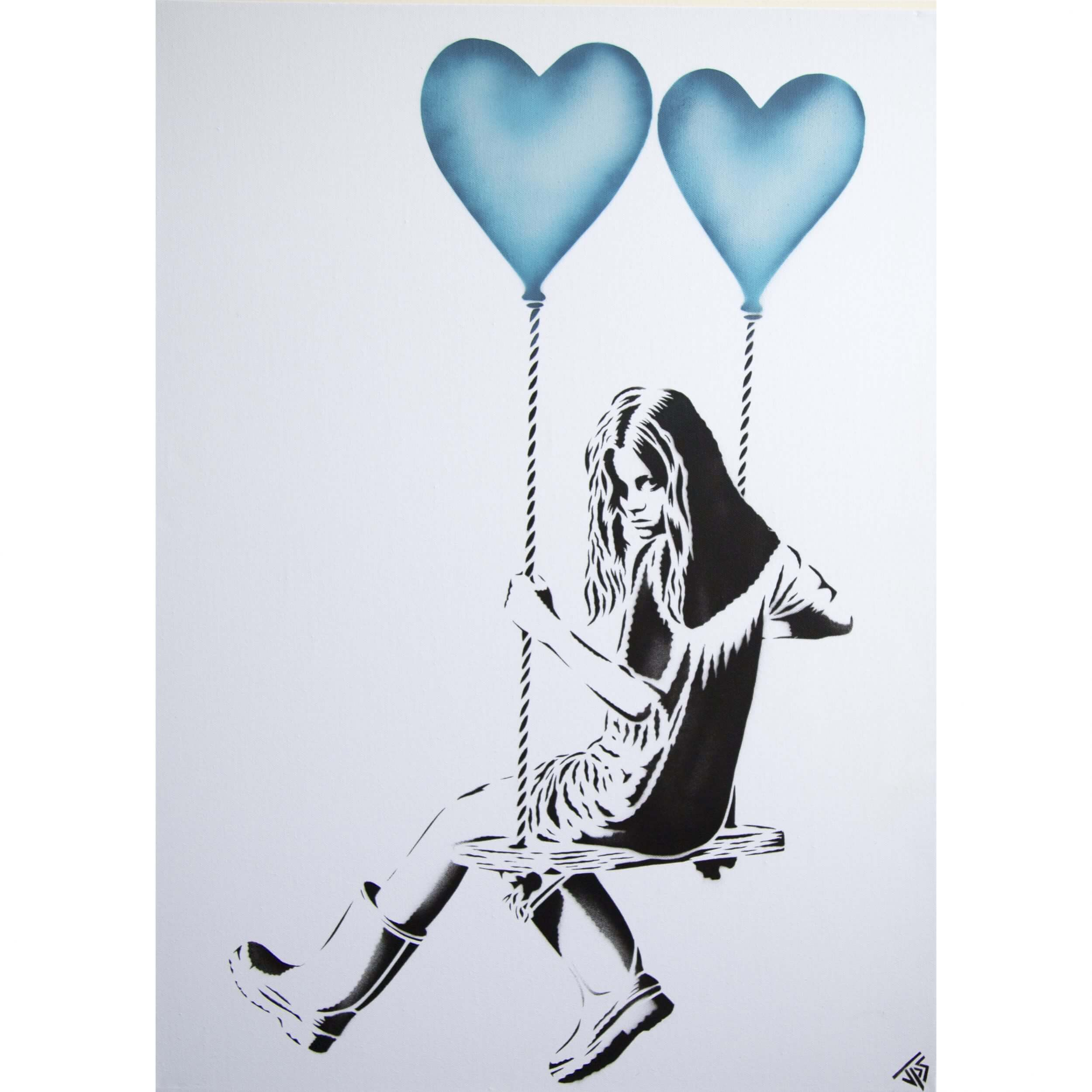 JPS - Balloon Girl (Light Blue) Canvas A/P
