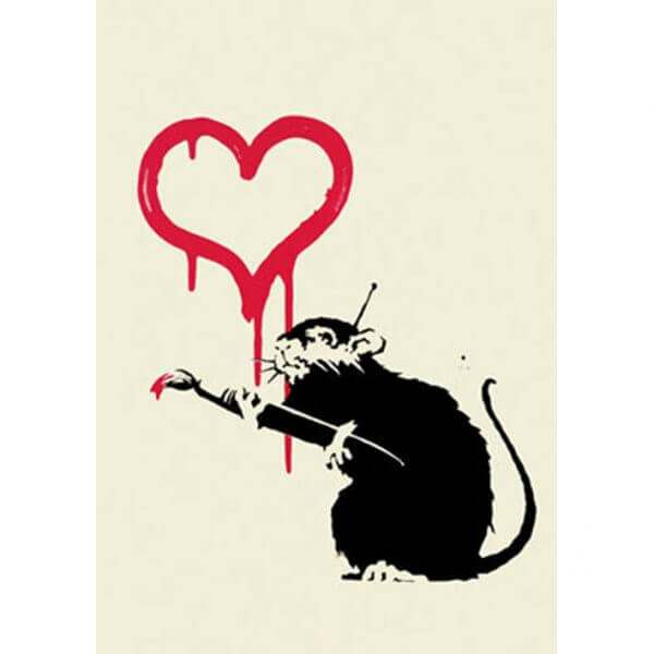 Banksy - Love Rat (Unsigned) Print