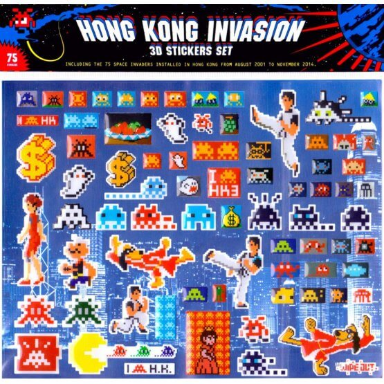 Space Invader - 3D Stickerpack Hong Kong