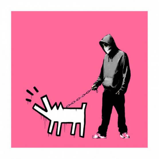 Banksy - Choose Your Weapon (Bright Pink) Signed Print