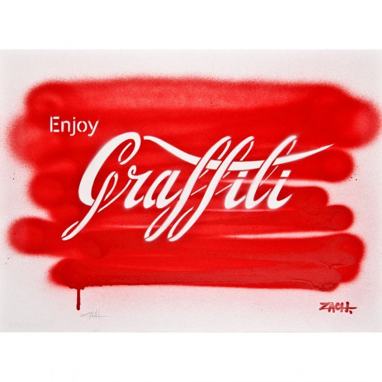 Ernest Zacharevic - Enjoy Graffiti (Handsprayed)