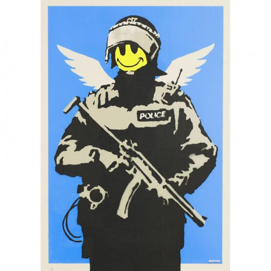 Banksy - Flying Copper (unsigned)