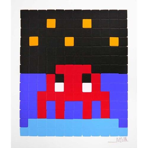 Space Invader - Space One (Red) Print