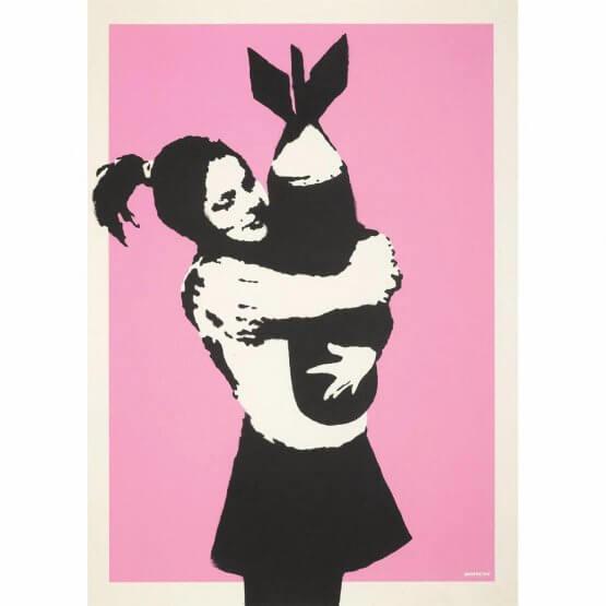 Banksy - Bomb Hugger Print