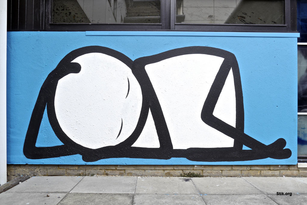 STIK 'Sleeping Baby' Fundraiser Homerton Hospital