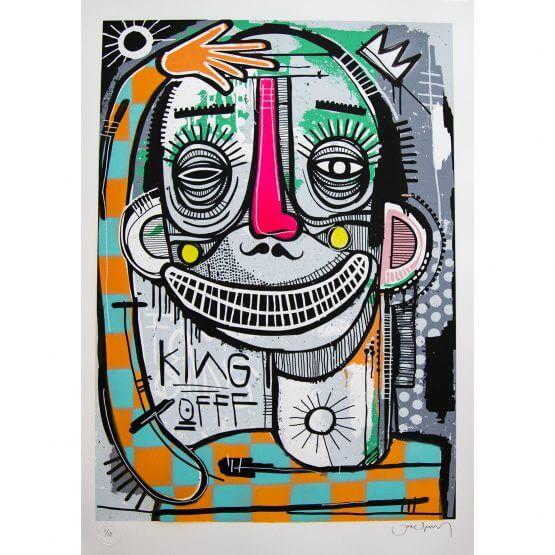 Joachim - King of Clowns chrome Print