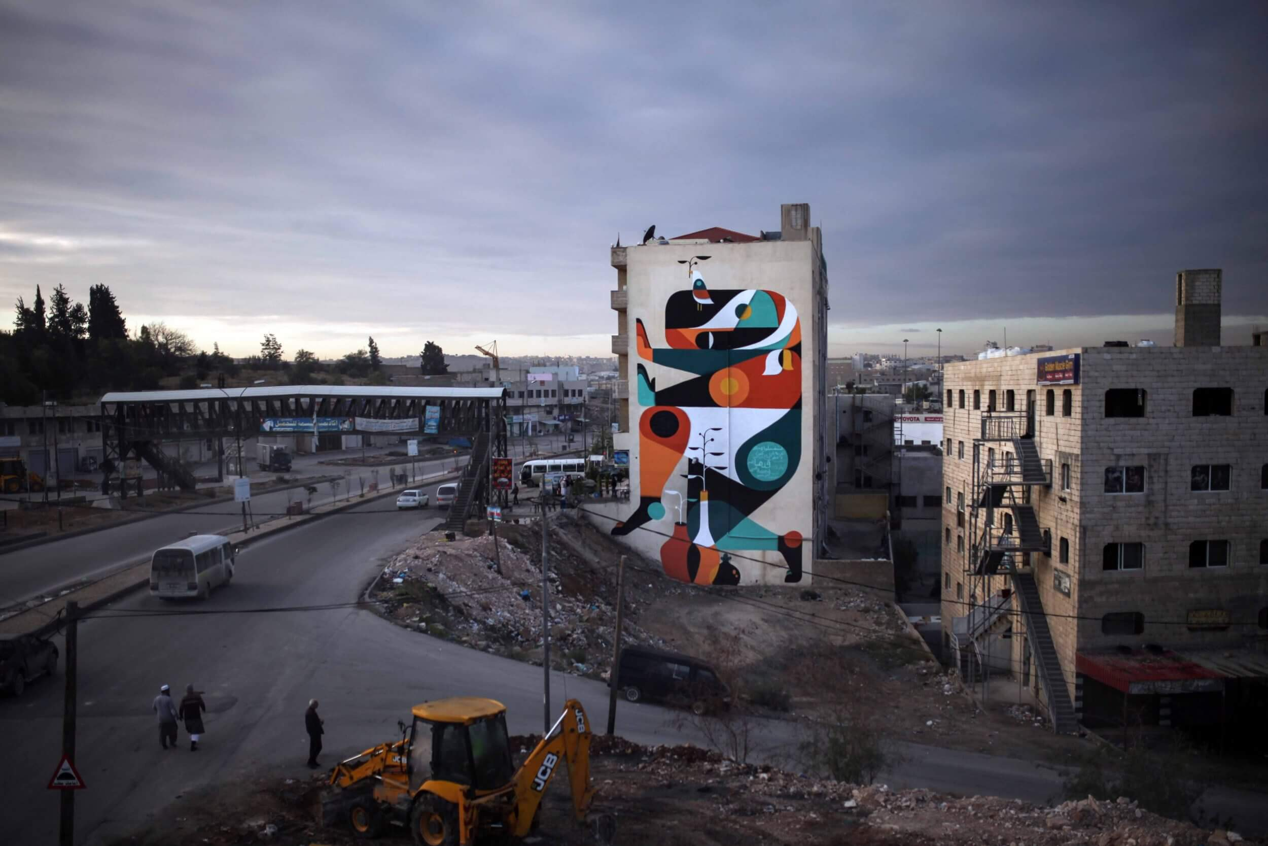 Interview with Ruben Sanchez about his wall in Jordan for OPEN SPACE