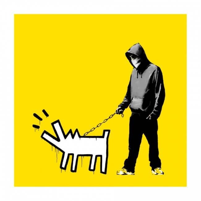 Banksy - Choose Your Weapon (CYW) (Lemon Yellow) Print