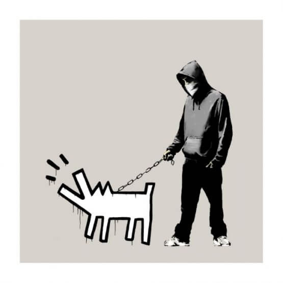 Banksy - Choose Your Weapon (CYW) (Queue Jumper Grey) Print