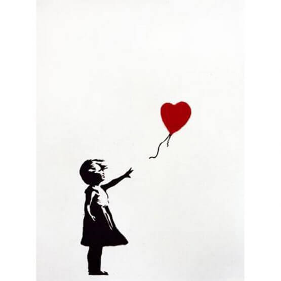 Banksy - Girl with balloon (GWB) Print