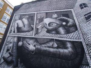 Phlegm Street Art, London