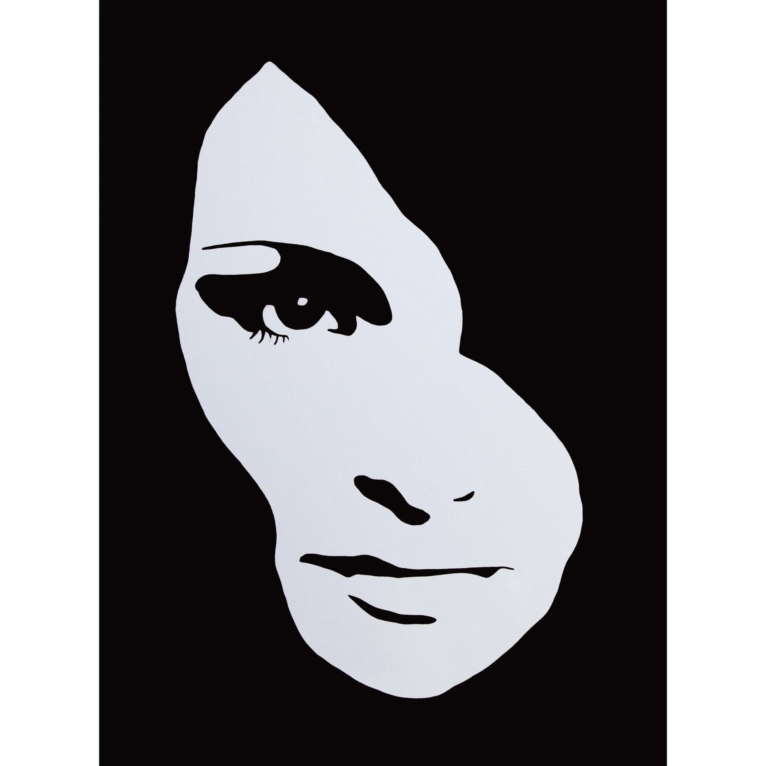 3F - Audrey Hepburn Large Canvas (Black) AP