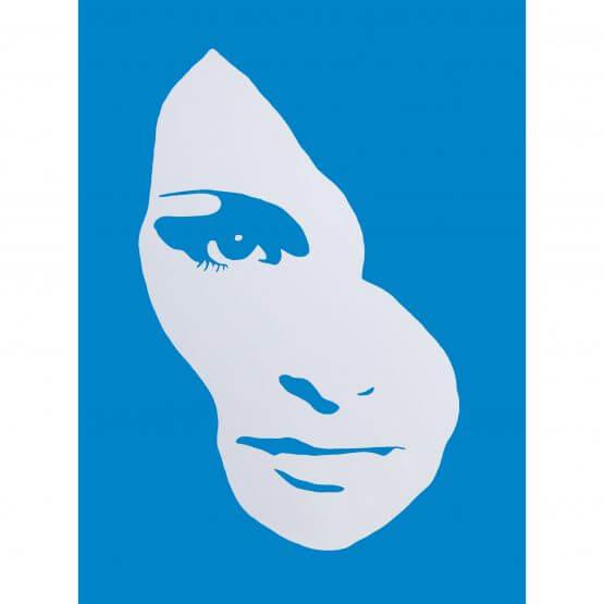 3F - Audrey Hepburn Large Canvas (Blue) AP