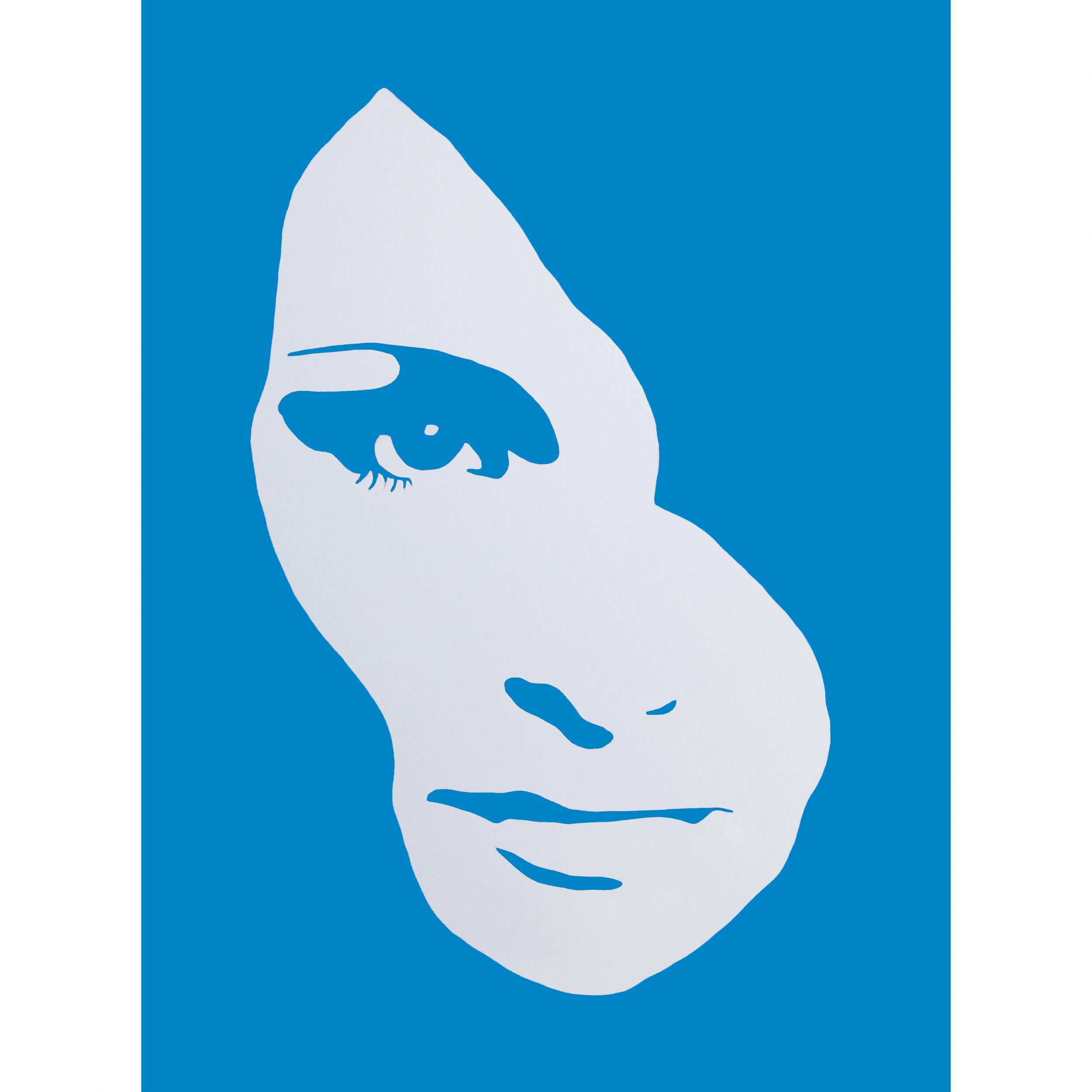 3F - Audrey Hepburn Large Canvas (Blue) AP