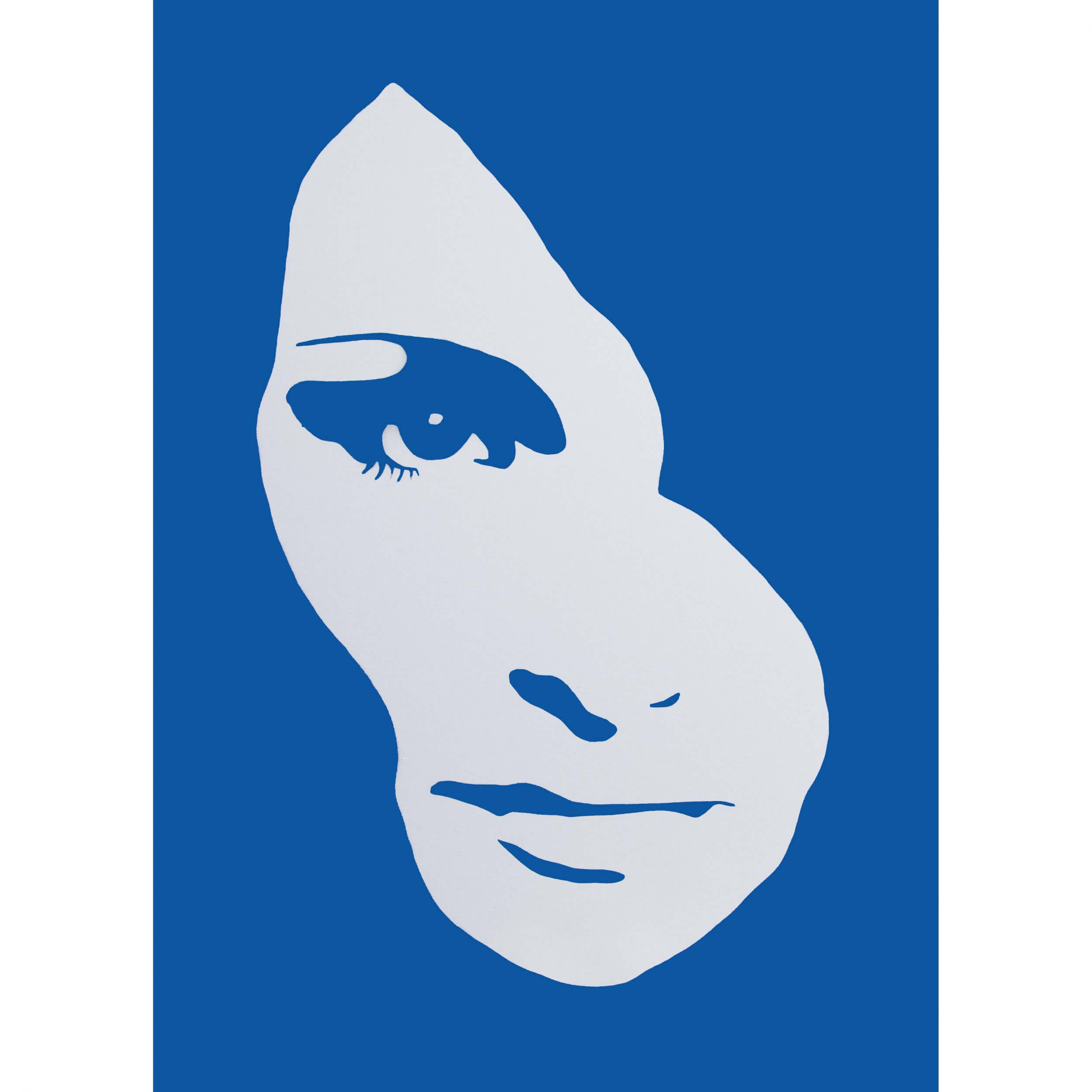 3F - Audrey Hepburn Small Deep edge Canvas (Blue) AP