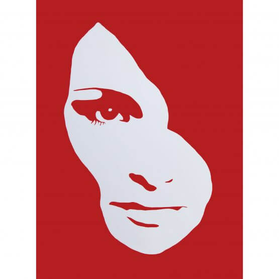 3F - Audrey Hepburn Large Canvas (Red) AP