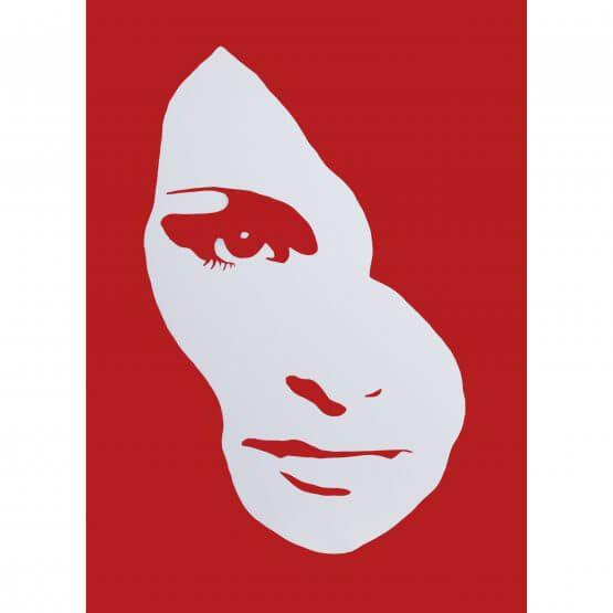 3F - Audrey Hepburn Small Deep edge Canvas (Red) AP