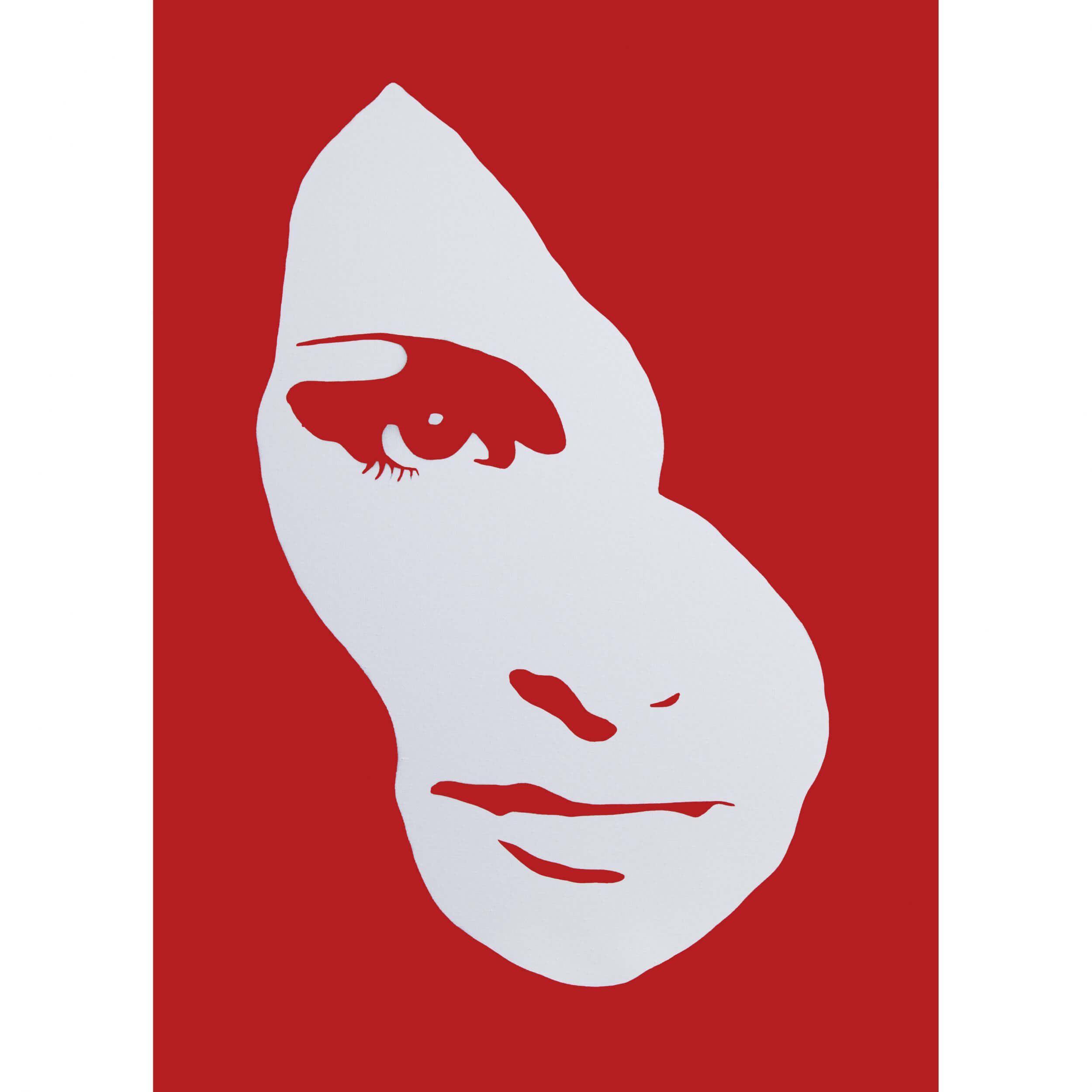 3F - Audrey Hepburn Small Deep edge Canvas (Red) AP