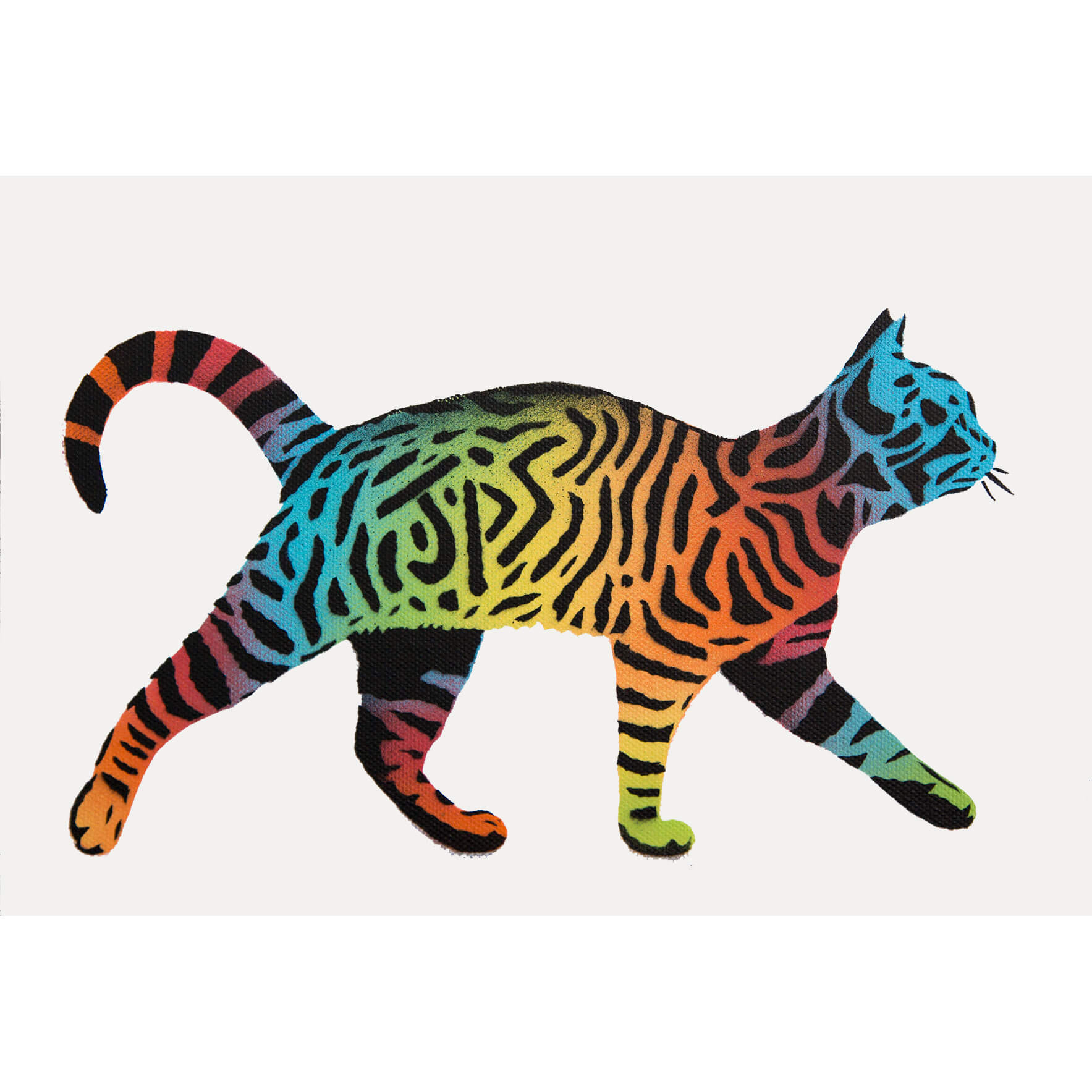 JPS - Mini Rainbow Tag Cat