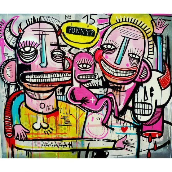 Joachim - Funny Familie! Canvas