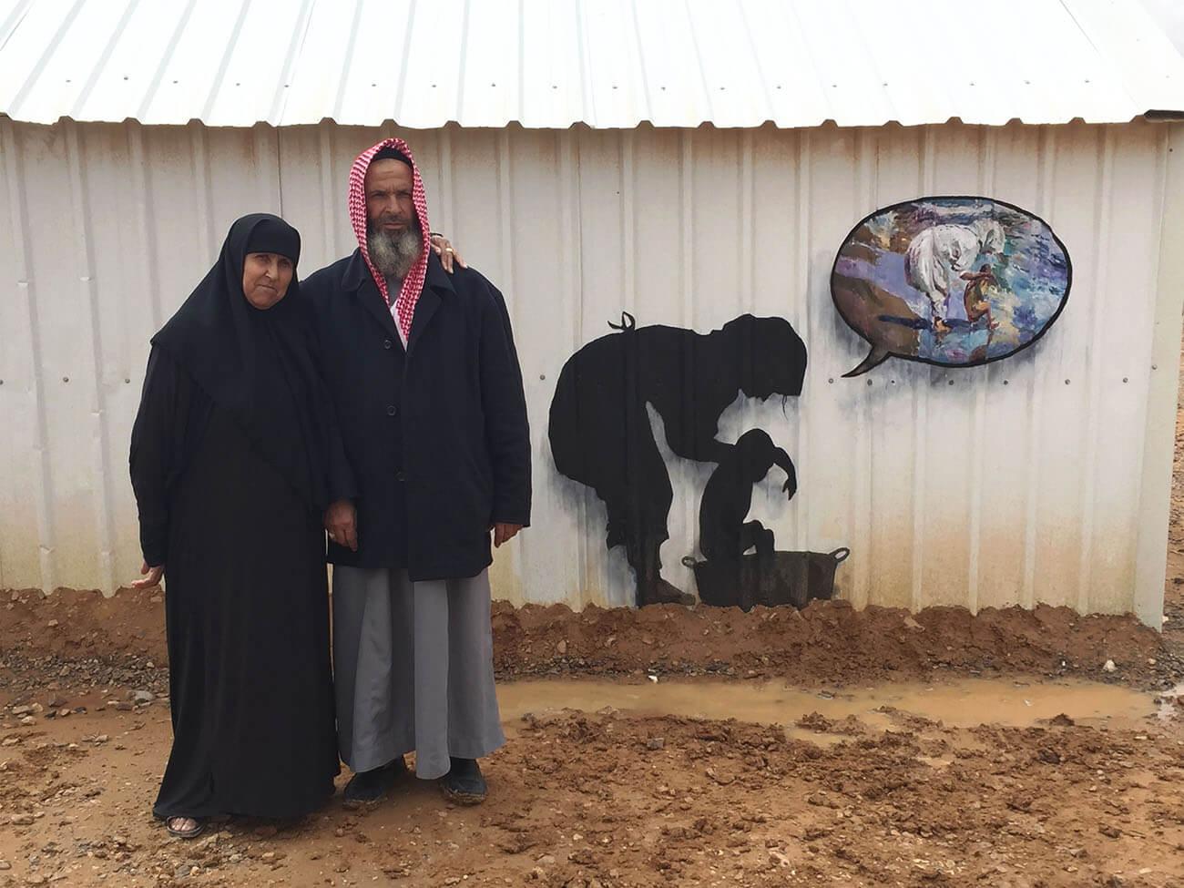 Pejac in Al-Azraq refugee camp, Amman Jordan 2016