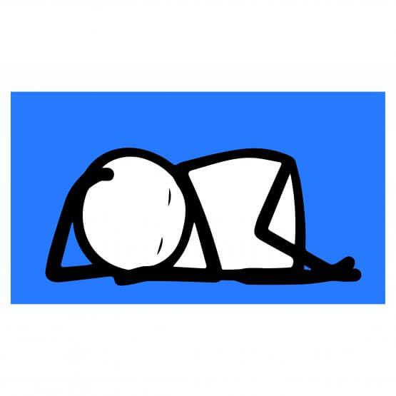 Stik -Sleeping Baby (Blue) Print