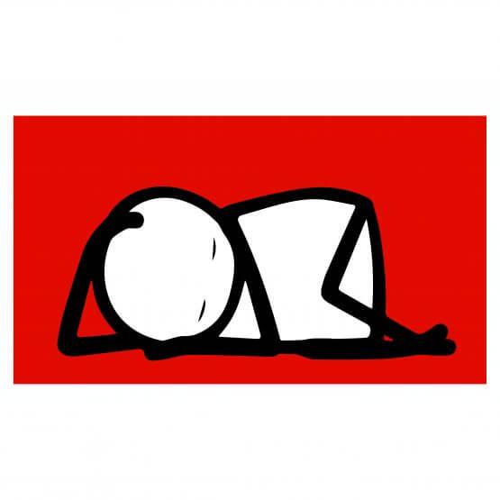 Stik -Sleeping Baby (Red) Print