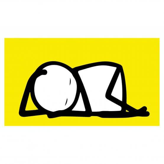 Stik -Sleeping Baby (Yellow) Print