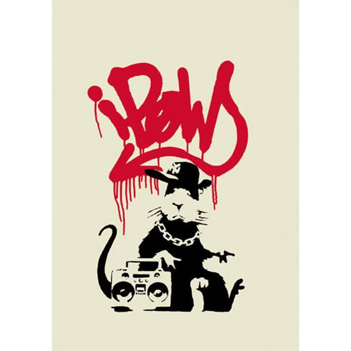Banksy - Gangsta Rat (unsigned) Print