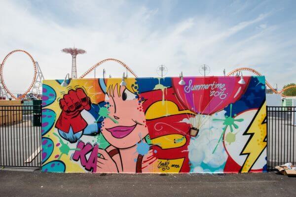 Crash Coney Art Walls NYC Photo © Martha Cooper