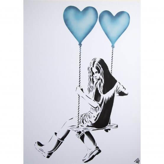 JPS - Balloon Girl (Light Blue) Canvas A/P