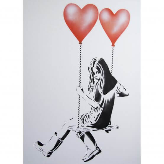 JPS - Balloon Girl (Orange) Canvas A/P