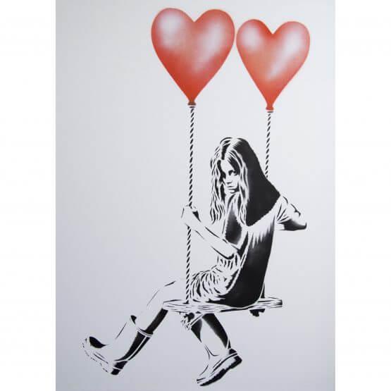 JPS - Balloon Girl (Orange) Canvas A/P