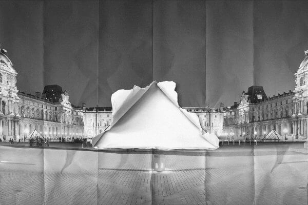 JR, Louvre pyramid, Paris © JR-Art