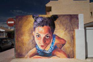 Begoña Belmonte. Street Art festival Mar Menor Los Alcazares