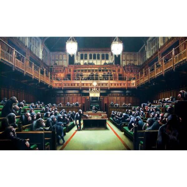 Banksy - Monkey Parliament Poster