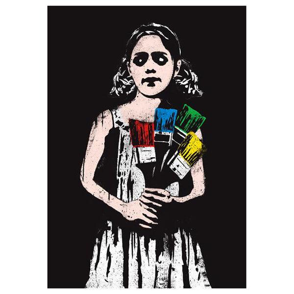 Dolk - Paintbrush Girl Print