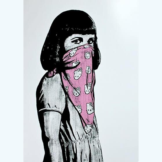 Dolk - Kitty Riot (Pink) Print