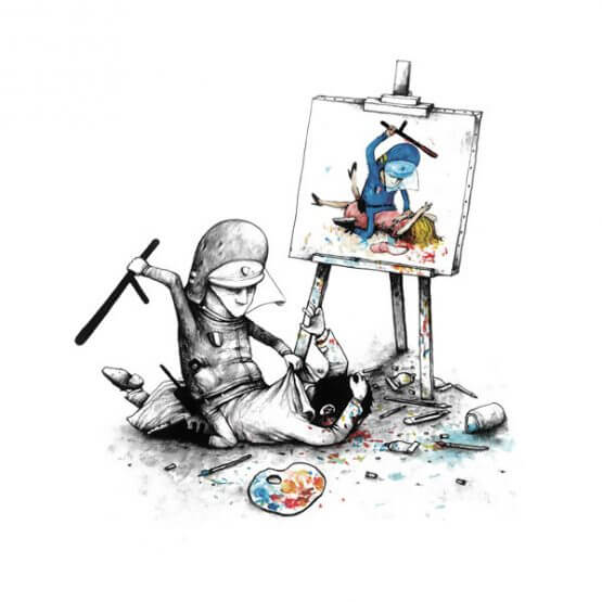 Dran - Free Speech Print