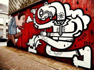 LIER UP Street Art Project - Joachim and Bisser