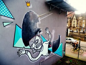 LIER UP Street Art Project - Joachim and Waldorf Claw