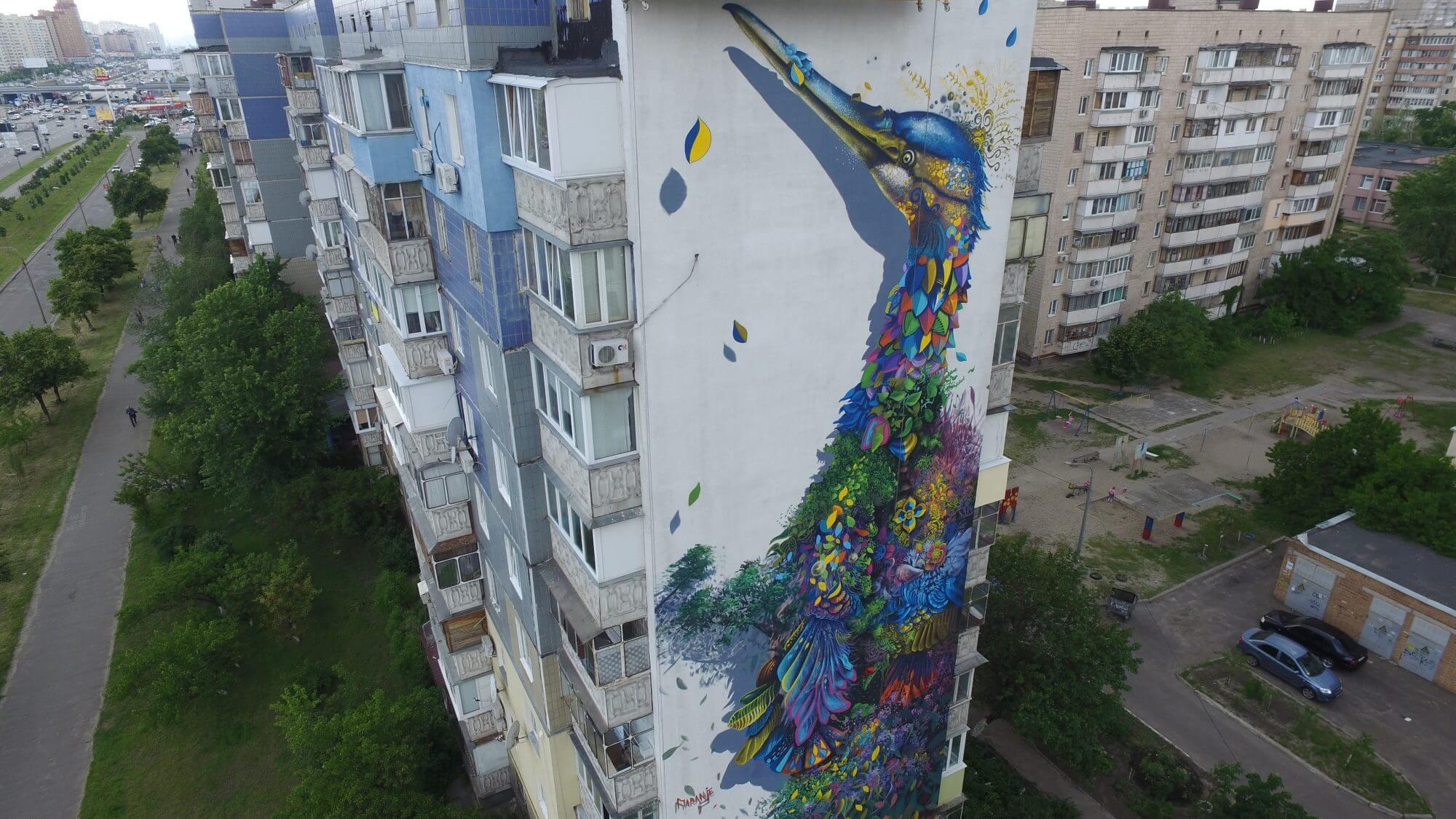 Street Artist Ernesto Maranje new walls in Kiev, Ukraine 2016