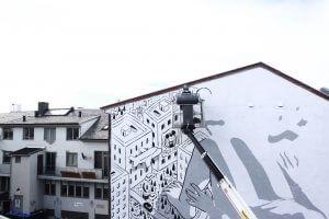 Millo, UpNorth Street Art Festival, Bodø, Norway