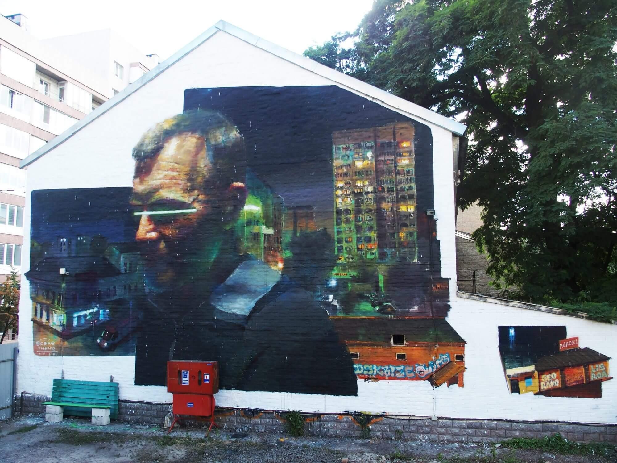Street artist Sebas Velasco new mural, Kiev, Ukraine 2016