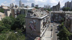 Ana Marietta, Art United Us , street art project, Kiev. Photo © Anton Kuleba